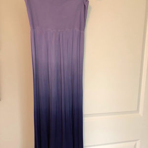 Pink Lotus Blue Ombre Maxi Skirt